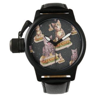 hot dog cat invasion wrist watch