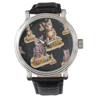hot dog cat invasion wrist watches