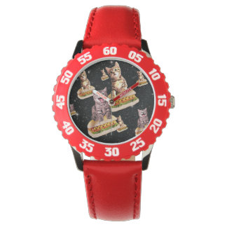 hot dog cat invasion wristwatches