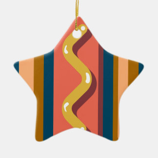 Hot Dog Ceramic Ornament