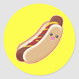 Hot Dog! Classic Round Sticker
