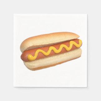 """""""Hot Dog"""" design paper napkins"""