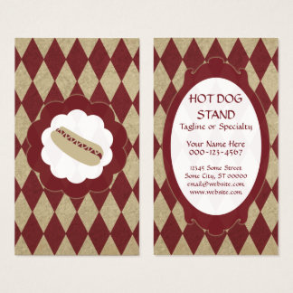 hot dog diamonds business card