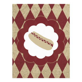 hot dog diamonds personalized letterhead