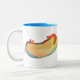Hot Dog Dreams Two-Tone Coffee Mug