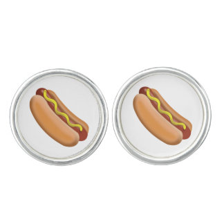 Hot Dog Emoji Cufflinks