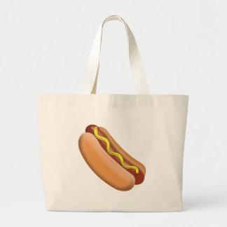 Hot Dog Emoji Large Tote Bag