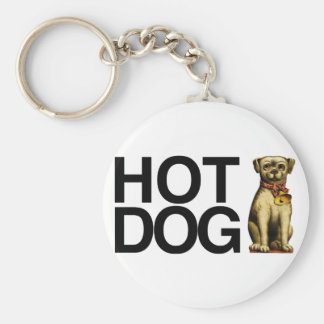 Hot Dog for pet lovers Basic Round Button Keychain