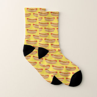 Hot Dog Frankfurter BBQ Wiener in a Bun Cozy Socks