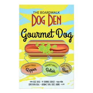 Hot Dog Full Colour Flyer