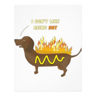 Hot Dog Funny Joke Slogan Letterhead