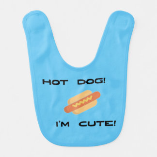 Hot Dog I'm Cute Bib