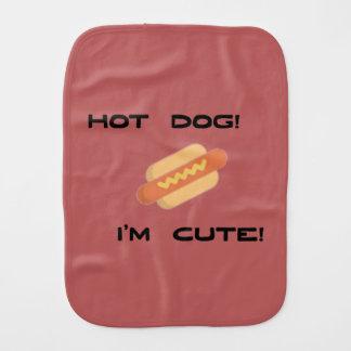 Hot Dog I'm Cute Burp Cloth