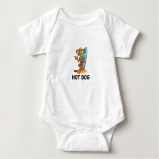 hot dog in sand baby bodysuit