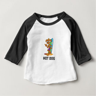 hot dog in sand baby T-Shirt