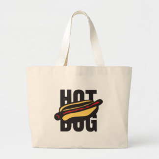 hot dog 🌭 large tote bag