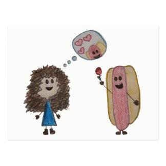 Hot Dog Love Postcard