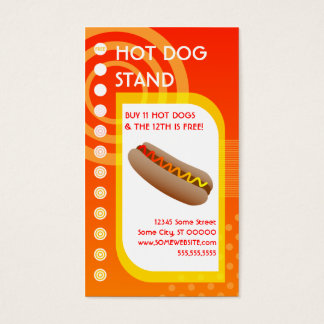 hot dog loyalty sunrise business card