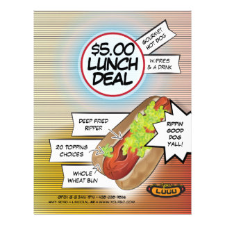 Hot Dog Lunch Deal Flyer