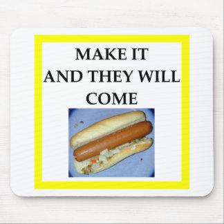 hot dog mouse pad