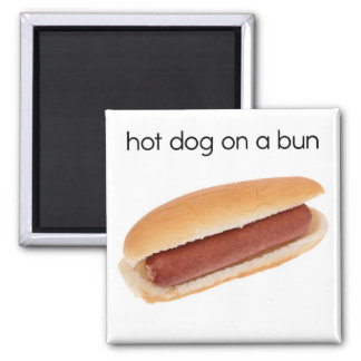 Hot Dog on a Bun Refrigerator Magnet