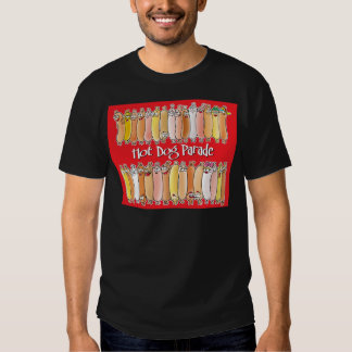 Hot Dog Parade with red background Tee Shirt
