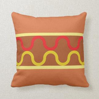 hot dog pattern throw pillow