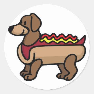 Hot Dog Round Sticker