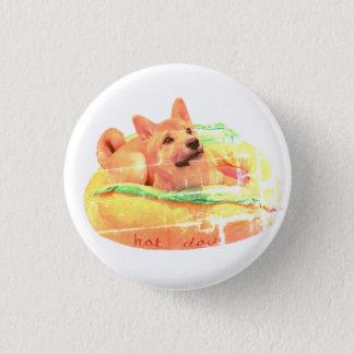 Hot Dog Shiba Badge 1 Inch Round Button