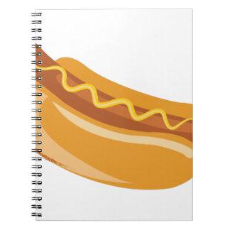 Hot Dog Spiral Notebook