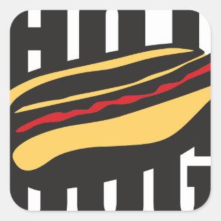 hot dog 🌭 square sticker