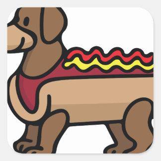 Hot Dog Square Sticker