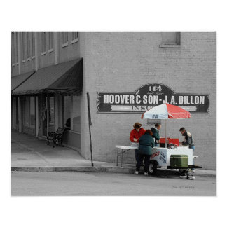 Hot Dog Stand, McMinnville Tennessee Poster