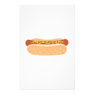 Hot Dog Toppings Stationery