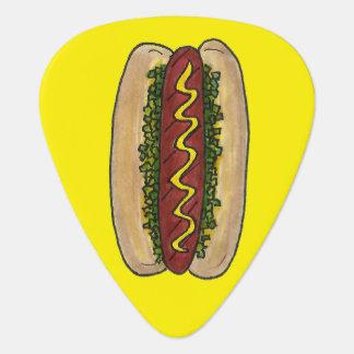 Hot Dog w/ Mustard and Relish Foodie Hotdog Bun Pick
