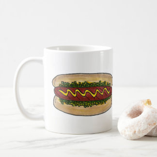 Hot Dog w/ Mustard Relish Fast Food Foodie Hotdog Coffee Mug
