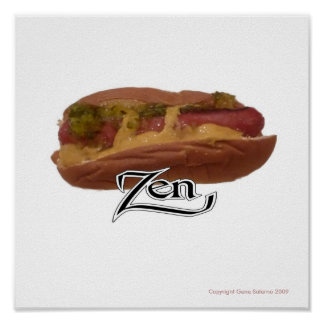 Hot Dog Zen Poster