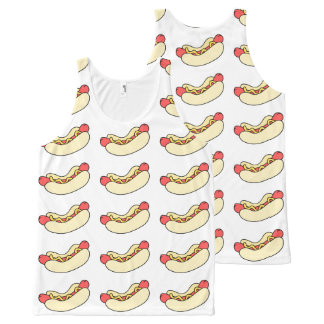 Hot Dogs All Over Tank Top