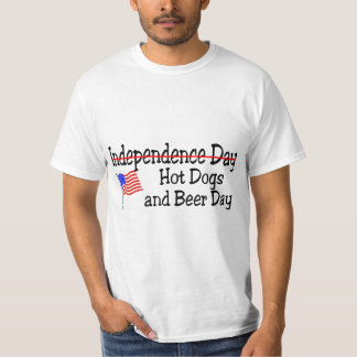 Hot Dogs and Beer Day July 4th T-Shirt