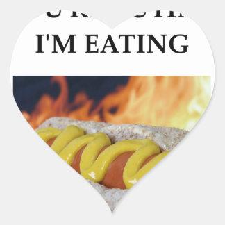 hot dogs heart sticker