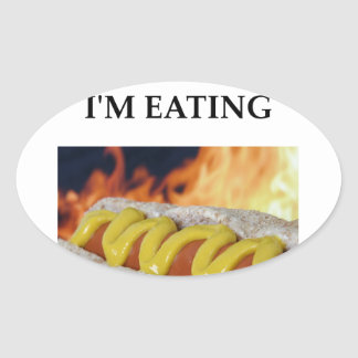 hot dogs oval sticker