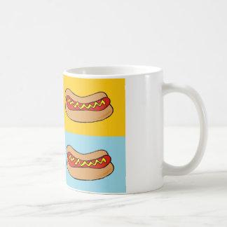 hot dogs tiled design coffee mug