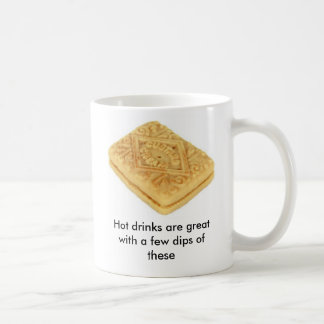 Hot drinks are great with biscuits coffee mug