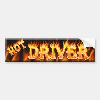 hot driver bumper sticker