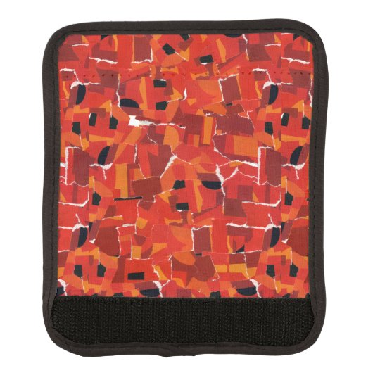 Hot Faux Mosaic Collage Luggage Handle Wrap