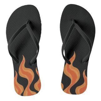 Hot feet flip flops