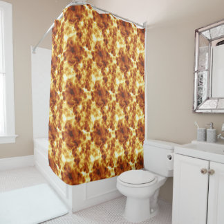 Hot Fiery Pattern Shower Curtain