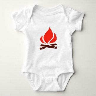 hot fire in fireplace baby bodysuit