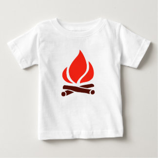 hot fire in fireplace baby T-Shirt