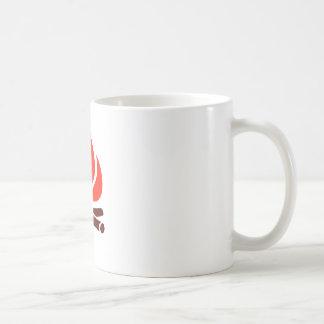 hot fire in fireplace coffee mug
